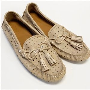 COACH || Nadia tan leather loafer moccasins 7